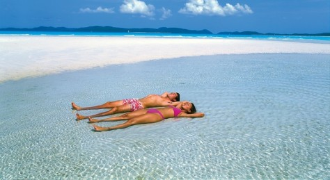 Whitehaven Beach: The sand is 98% pure silica, meaning you can scrub your jewellery clean in it!