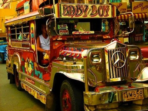 local transport roundup - jeepney in Manila Philippines
