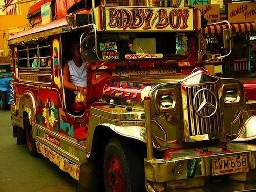 local transport roundup - jeepney in Manila Philippines